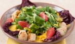Салат с грейпфрутом и гребешками - изысканный, легкий и быстрый