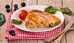Простая и вкусная закуска: лаваши с сыром и шпинатом