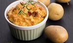 Картофельное суфле с беконом