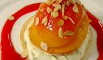 Печеные персики с лимонным кремом