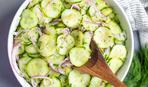 Фитнес-салат из кабачков с мятной заправкой