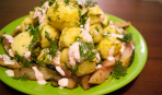 """Теплый картофельно-рыбный салат """"Утро"""""""