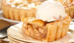 Английский рождественский яблочный пирог с мороженым и карамелью