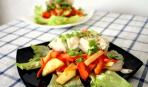 Теплый салат из сома