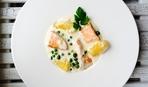 Брюшки лосося с овощами: пошаговый рецепт