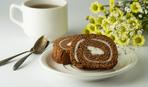 Шоколадный бисквит с банановым кремом