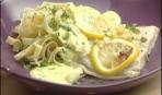 Филе трески с лимоном и чесноком