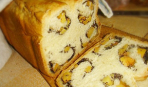 Хлеб-завитушка с маком и сухофруктами