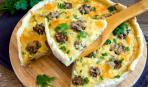 Блюдо дня: Киш с грибами и шпинатом