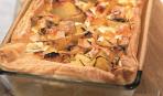 Картофельный пирог с луком на Масленицу