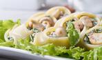 Каннеллони с грибами, шпинатом и рикоттой