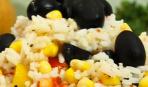 Салат из риса с крилем