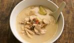 Кокосовый суп с курицей и шиитике
