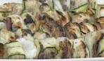Рыбные шашлычки с цукини