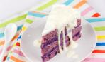 """Торт из черемухи """"Лиловая мечта"""" со сметанным кремом и белым шоколадом"""