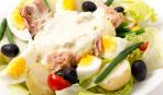 Картофельный салат с тунцом и необычной заправкой
