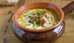Суп с копченой горбушей