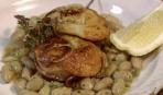 Фасоль с морскими гребешками