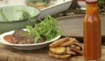 Стейк с хрустящим картофелем