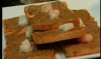 Тосты с креветками