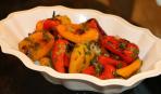 Консервированный жареный болгарский перец с овощами