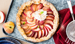 Открытый швейцарский пирог с персиками: пошаговый рецепт