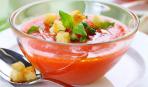 Гаспачо из томатов с хрустящими  крутонами