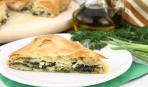 Итальянский пирог с ветчиной, крапивой и шпинатом