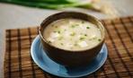 Постный суп-пюре из картофеля и грибов и тофу