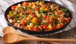 Баклажаны с перцем и томатами