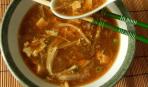 Грибной суп с говядиной по-пекински