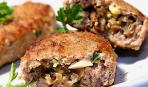 Мясные рулетики из отбивного мяса с начинкой