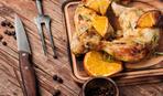 Куриные окорочка, запеченные с апельсинами