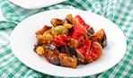 Грузинская кухня: жареные баклажаны с орешками