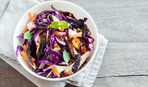 Салат из капусты со сливами