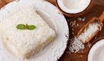 Десерт из белого шоколада и кокоса