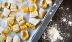 Ньокки с лимоном и шпинатом