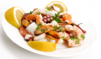 Салат из картофеля с морепродуктами