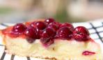 Сливочный пирог с вишней