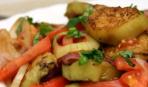 """Салат с жареными кабачками и мясом """"Эдинбург"""""""