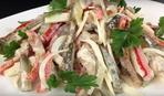 Салат «Пражский» с копченой курицей