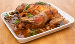 Запеченная курица фаршированная потрохами