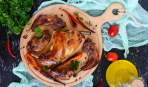 Заяц, тушеный в овощном одеяле - к особому ужину