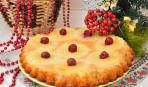 Пирог с ананасом и вишней: элементарный рецепт