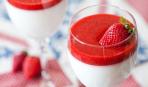 Клубничное желе с йогуртом