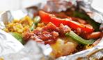 "Обед на ленивую хозяйку: ""Узелки"" с мясом и овощами"