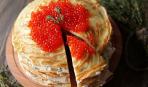 Что приготовить к чаю: блинный торт с икрой