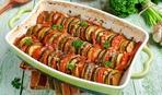 Баклажан, запеченный с овощами