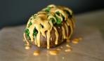 Фаршированный картофель фасолью и брокколи