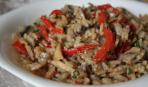 Рис, жареный с колбасой